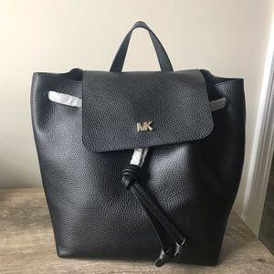 NWT Michael Kors Junie Flap Backpack Leather